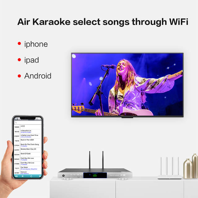 8856(#5) Professional android system home ktv karaoke player