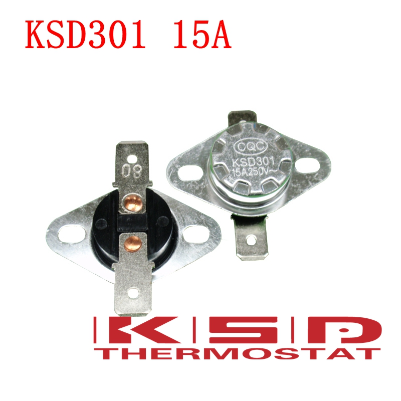 5pcs NC Normally Closed Thermostat Temperature Thermal Switch KSD301