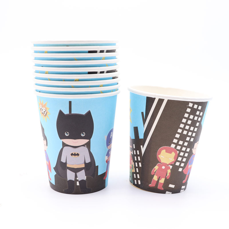 Permalink to 10Pcs/lot Cartoon Avenger Iron Man Paper Cups Favor For Boy Kid's Party Baby Shower Party Decorations Disposable Supplies