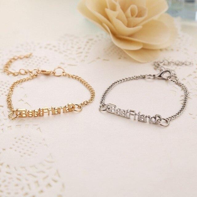 995eb317d14d Gargantilla Bestfriend pulsera cadena encanto pulsera plata oro-color  pulsera para mujeres populares en