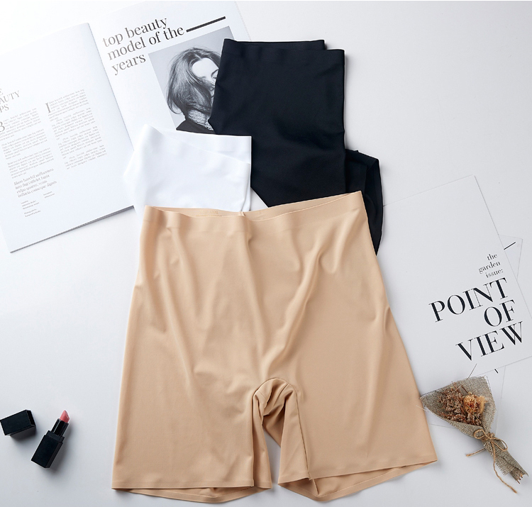 HTB1IK8zXvc3T1VjSZPfq6AWHXXaO - New Summer Thin Women Large Size Safety Shorts Ice Silk Cool High Elasticity Plus Size Safety Pants Shorts Under Skirt Female