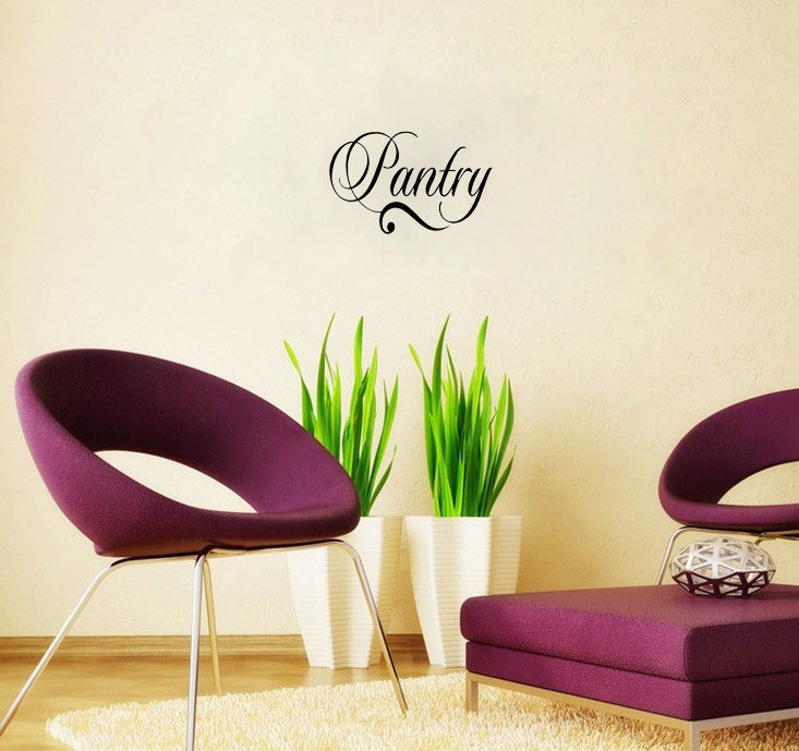 Pantry Decal Vinyl Lettering Wall Art Words Quotes Home Decor Sayings Hallway Living Room Decorative Stickers