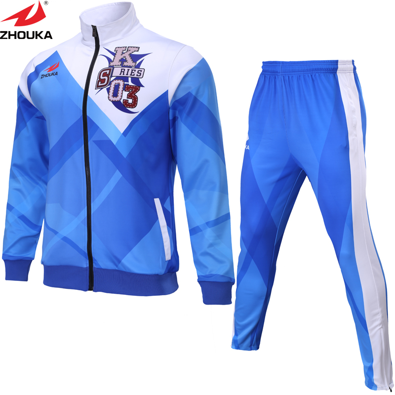 Customized Sublimation Soccer Coaching Swimsuit 2016 2017 Soccer Tracksuit Males's Lengthy Sleeve Soccer Working Tracksuit