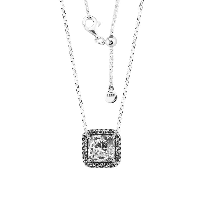 Timeless Elegance Pendant & Necklace with Clear CZ 100% 925 Sterling Silver Fine Jewelry Free Shipping Timeless Elegance Pendant & Necklace with Clear CZ 100% 925 Sterling Silver Fine Jewelry Free Shipping