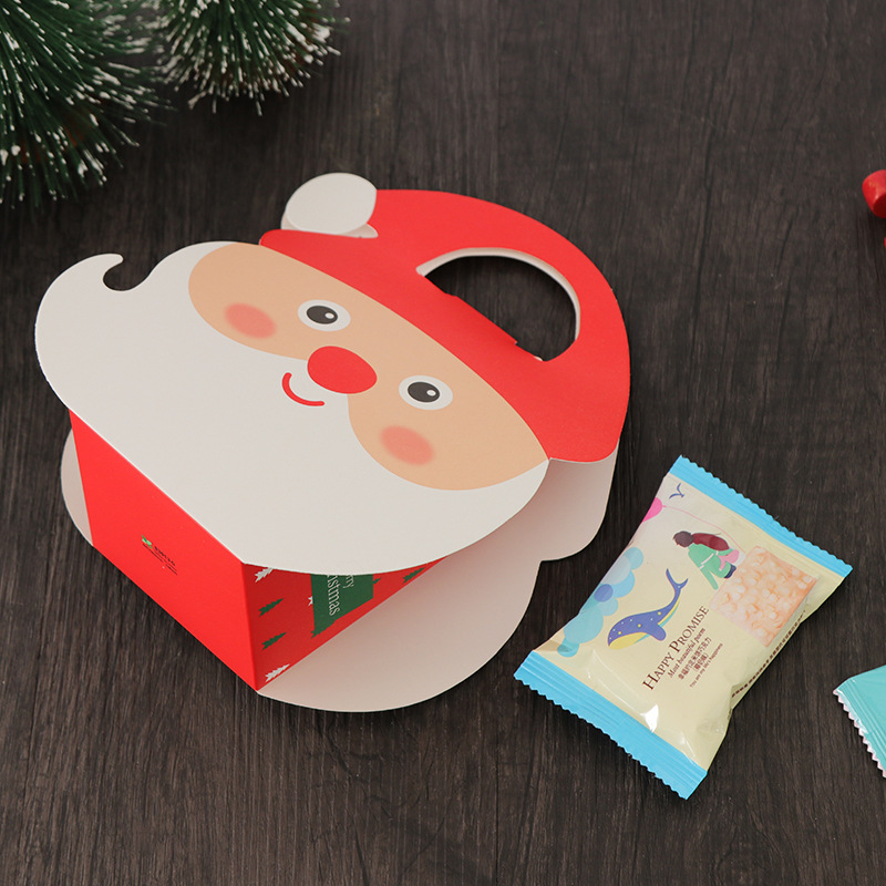 yooap Christmas10 piece set Peace Fruit Packaging Gift Box Gift Bag Santa Claus Carrying Paper Bag in Gift Bags Wrapping Supplies from Home Garden