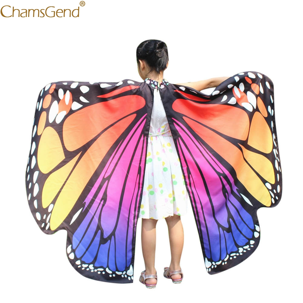 Kid Shawls And Poncho Girl Butterfly Wings African Women Shawls Designer  Scarves Nymph Pixie Poncho Costume Accessory Mar11