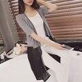 2016 Korean version of the new spring and summer dress hem Chiffon cardigan  short sleeved knit shawl