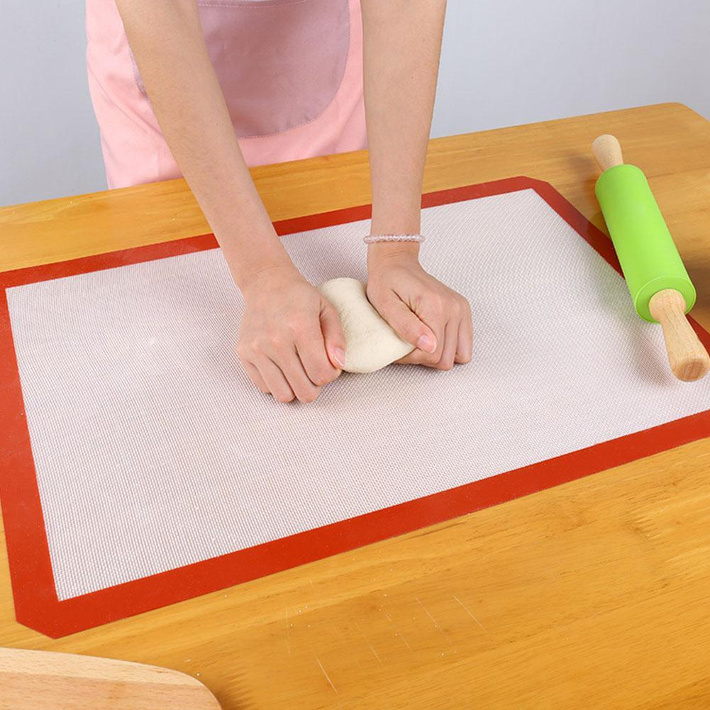 Baking Mat 30x 40cm Silicone Fibreglass Non Stick Sheet Tray Oven Liner Rolling Cake Mat Baking Tray Mat Cake Pan