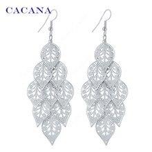 CACANA  Dangle Long Earrings For Women Symmetry Pattern Leaves Bijouterie Hot Sale No.A732 A733