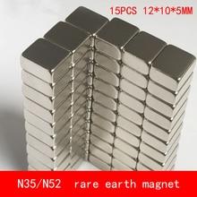 15PCS 12*10*5mm permanent NdFeB magnet N35 N52 block magnets 12X10X5MM