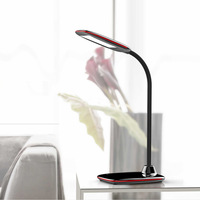 LED Desk Lamp Foldable Dimmable Rotatable Eye Care LED Touch-Sensitive Controller USB Charging Port Table Lamp
