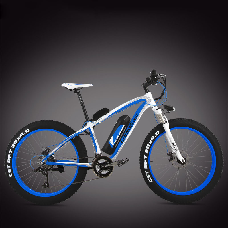 26 inches snow fat bike 4.0 tire Electric bicycle large wheel 27 speed power li -ion battery electric mountain ebike
