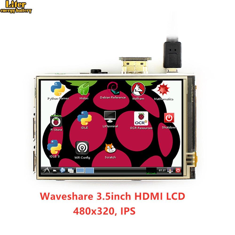 3.5 pouces HDMI LCD 480x320, écran tactile résistif tablette LCD, interface HDMI, écran IPS, conçu pour Raspberry Pi