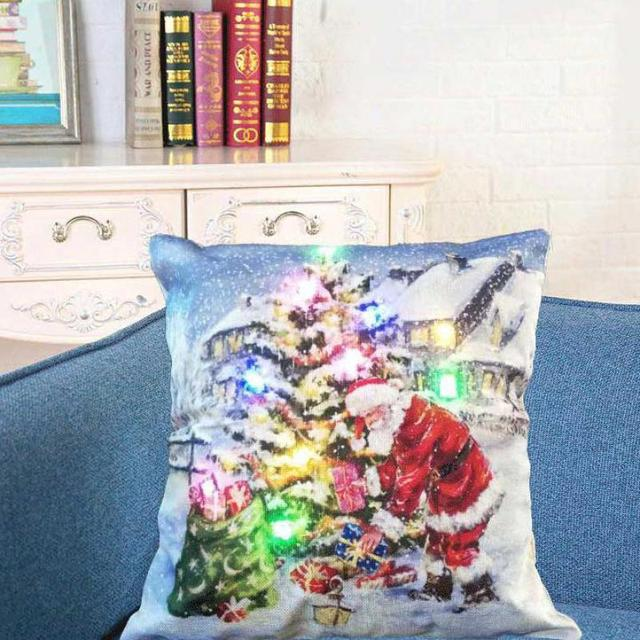 Moderne Kissenbezüge vintage farbe led weihnachten kissenbezüge kissenbezug weihnachten