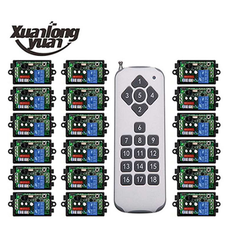 xuanlongyuan 1000M Long Range AC220V 1CH 10A RF Wireless Remote Control Switch System Transmitter Receivers window