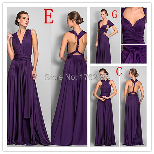 plum dress for wedding aliexpress buy convertible purple bridesmaid dresses 6644