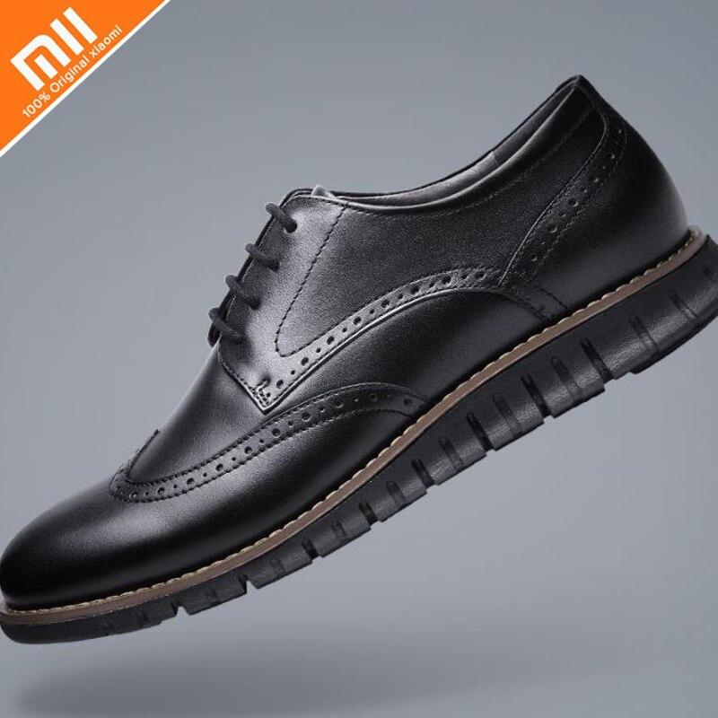 100 Original Xiaomi Mijia Qimian Sports Derby Shoes Lightweight High Elastic Leather Men and Women Shoes