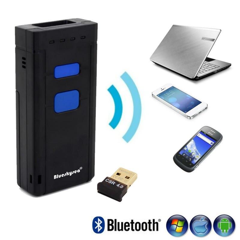 Prix pour Livraison Gratuite! MJ-2877 Sans Fil 2D Barcode Scanner Bluetooth V4.0 QR Bar code Reader Avec Bluetooth Récepteur