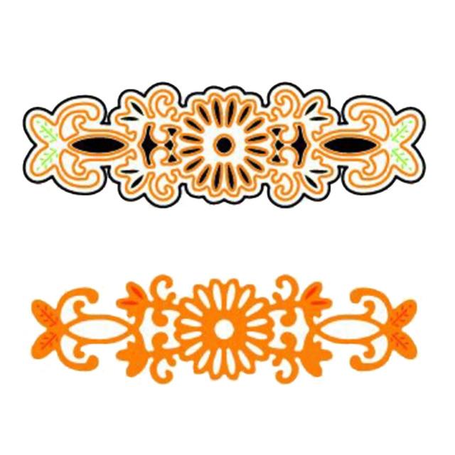 flower bracelet shape metal stencil embossing cutting dies 3d diy