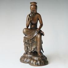 ATLIE BRONZES Small Size  Buddha Statue Maitreya Bodhisattva Sculpture Buddhist Temple Home Decoration Gifts