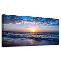 Wall Art Moon Sea blue Ocean Landscape Paintings Bedroom Canvas Art Print wall art for living room Paintings Drop shipping