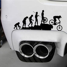 Human Evolution Car Stickers Waterproof Vinyl Decals Black/Sliver motorcycle funny decor for cars styling automobiles products(China)