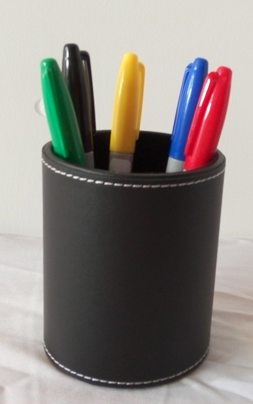 Бесплатная доставка, волшебные трюки, цветная ручка предсказаний, круглый кожаный держатель для ручек, цветовой тон, ментализм, Магия/сценическая магия/магический реквизит