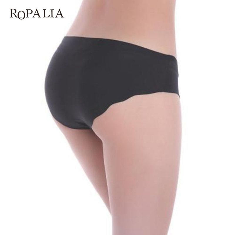 12617f9be89 ROPALIA Fashion Women Sexy Solid Invisible Seamless Soft Thongs Lingerie  Briefs Hipster Underwear Panties