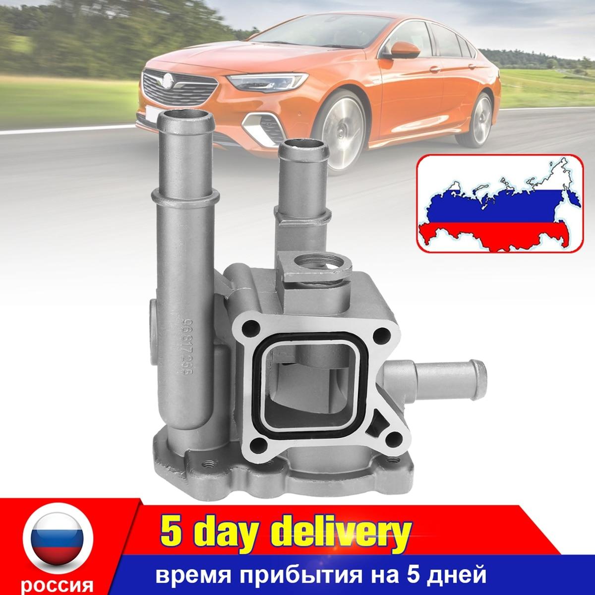 Di alluminio di Raffreddamento Del Motore Termostato con Alloggiamento per Chevrolet Chevy per Cruze Orlando Astra Zafira 96984103 96817255 96984104