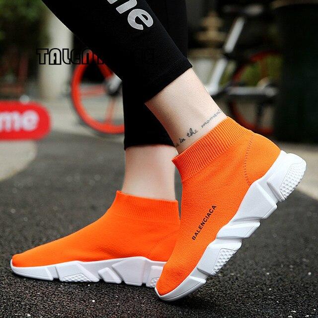 Artı Boyutu 35-45 Popüler Genç Kadın Çizmeler Moda Nefes Bahar Ve Yaz Marka Sneaker Rahat Işık rahat ayakkabılar