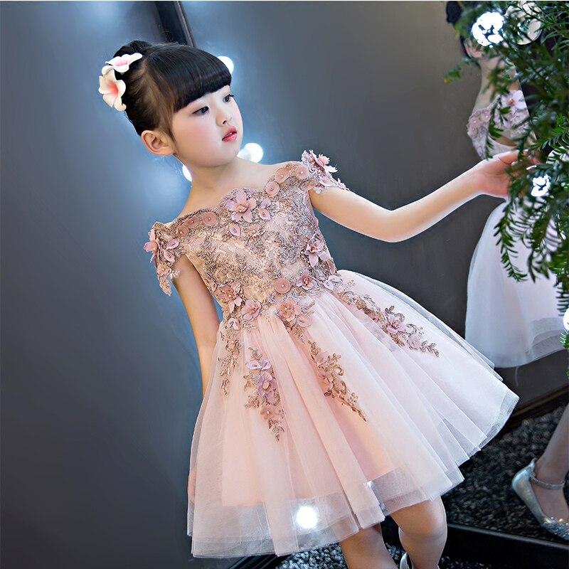 2017 г. Лидер продаж высокое качество детская Обувь для девочек милые платье принцессы Роскошные элегантные Обувь для девочек shoulderless на день ...
