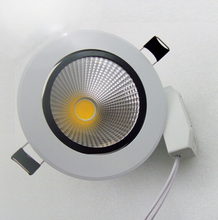 HOT!! 7W/12W White shell cob down light ,dimmable Led ceiling 120 degree angle led lamps 85-265v/AC Free Shipping