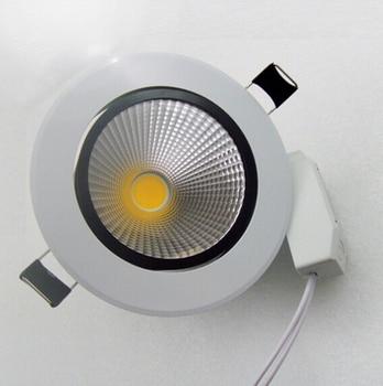 цена на HOT!! 7W/12W White shell cob down light ,dimmable Led ceiling light 120 degree angle led ceiling lamps 85-265v/AC Free Shipping