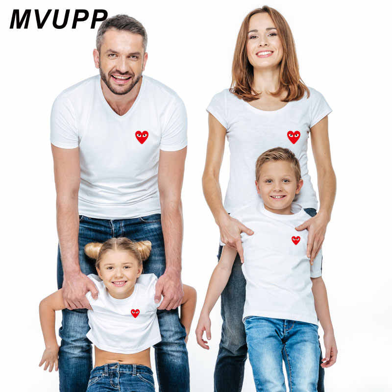 f6253c0ea family look matching outfits mother daughter short sleeve dad mom baby father  son clothes t shirt