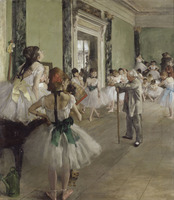 Modern Famoue Oil Painting The Ballet Class On Canvas Reproduction Oil Painting For Hpmr Wallpaper