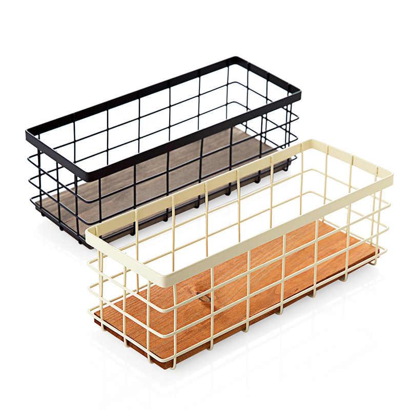 Spice rack de ferro cesta de armazenamento de desktop cosméticos controle remoto prático cozinha faca e garfo colher titular organizador de cozinha