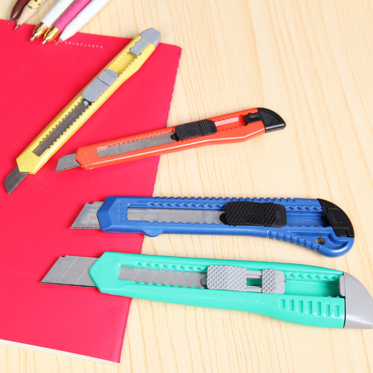 Snap Off Snap-off Blade Cutter Knife Paper Student Office Stationery Art Box Package Open Opener Parcel Handicraft Sharp