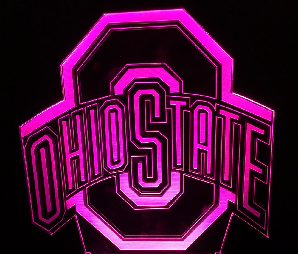 OHIO STATES Football Helmet Sport Club Team logo 3D LED night Light 7 Colors Changing Table Lamp desk lamp Child Gift desk light