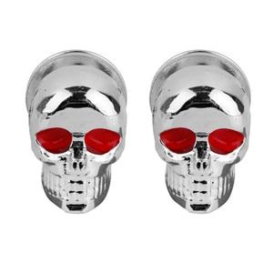 Image 5 - 2 Pcs אוניברסלי אופנועים פלסטיק & פלדת גולגולת רישיון צלחת מסגרת ברגים ברגים כובעי אטב Fit כל 6mm ברגים אופנוע אגוז