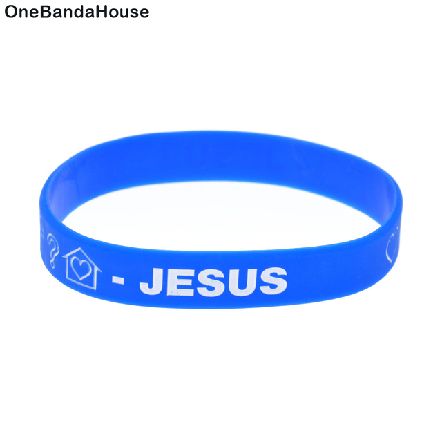 Onebandahouse 1pc Silicone Wristbands Love Breat And Pray Bracelet Faith Bangle
