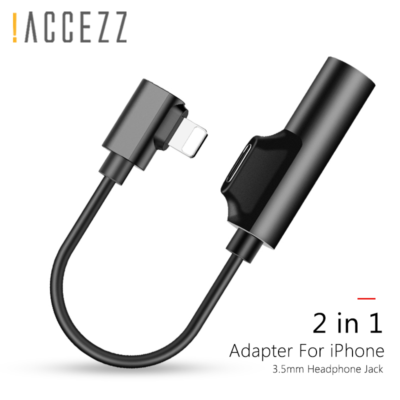 !ACCEZZ 2 In 1 Charging Listening Adapter For Iphone X XR XS MAX 8Pin Lighting 3.5mm Jack AUX Connecter For Iphone SE 6 7 8 Plus