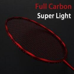 Chuyên Nghiệp Siêu Sáng Full Carbon Sợi Lông Xâu Chuỗi Max 30LBS 4U Vợt Có Dây Túi Vợt Thể Thao Padel