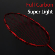 Professional Super Light Full Carbon Fiber Badminton Racket Strung Max 30LBS 4U Rackets With String Bag Racquet Sports Padel(China)
