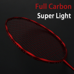 Professional Super Light Full Carbon Fiber Badminton Racket Strung Max 30LBS 4U Rackets With String Bag Racquet Sports Padel