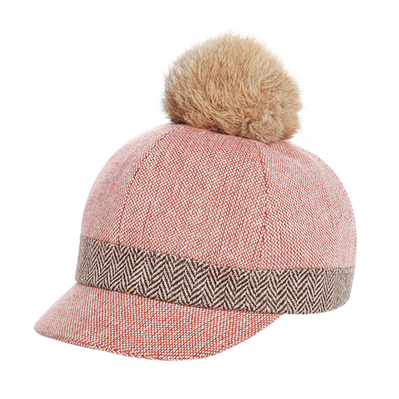 Boys Girls Fur Pompom Baseball Cap 2017 Winter Snapback Hats For Kids Hip Hop Pom Pom Trucker Hat Children's Golf Cap Bonnet ботфорты dino ricci select dino ricci select di034awwbt44