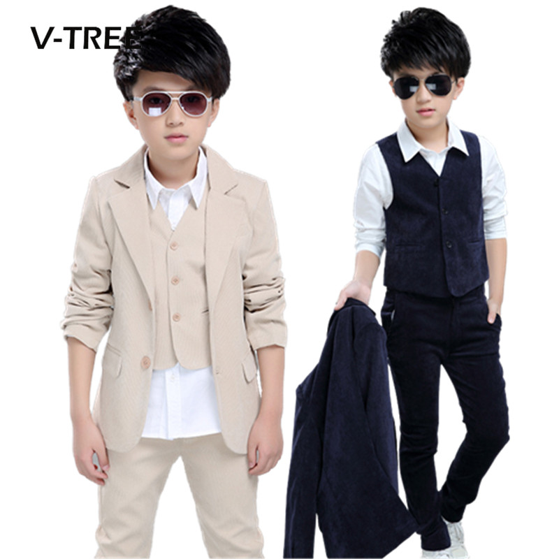 Juinor boys clothing sets boys striped vest+pant+coat suits formal outfits kids school uniform children wedding party clothes boys clothes set boys striped vest pant shirt suits formal outfits kids school uniform children clothing wedding party clothes