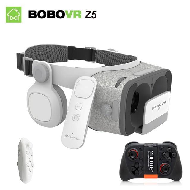 7a5a6895f2c7 bobovr z5 3d vr glasses virtual reality vr box 2.0 google cardboard bobo vr  headset with headphone For 4.7-6.2 inch smartphone