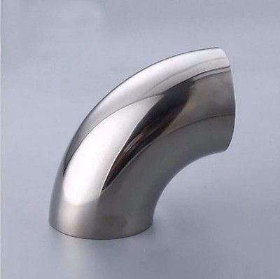 76mm 3 Pipe O/D 304 Stainless Steel Sanitary Butt Weld 90 Degree Elbow Bend Pipe Fitting homebew76mm 3 Pipe O/D 304 Stainless Steel Sanitary Butt Weld 90 Degree Elbow Bend Pipe Fitting homebew