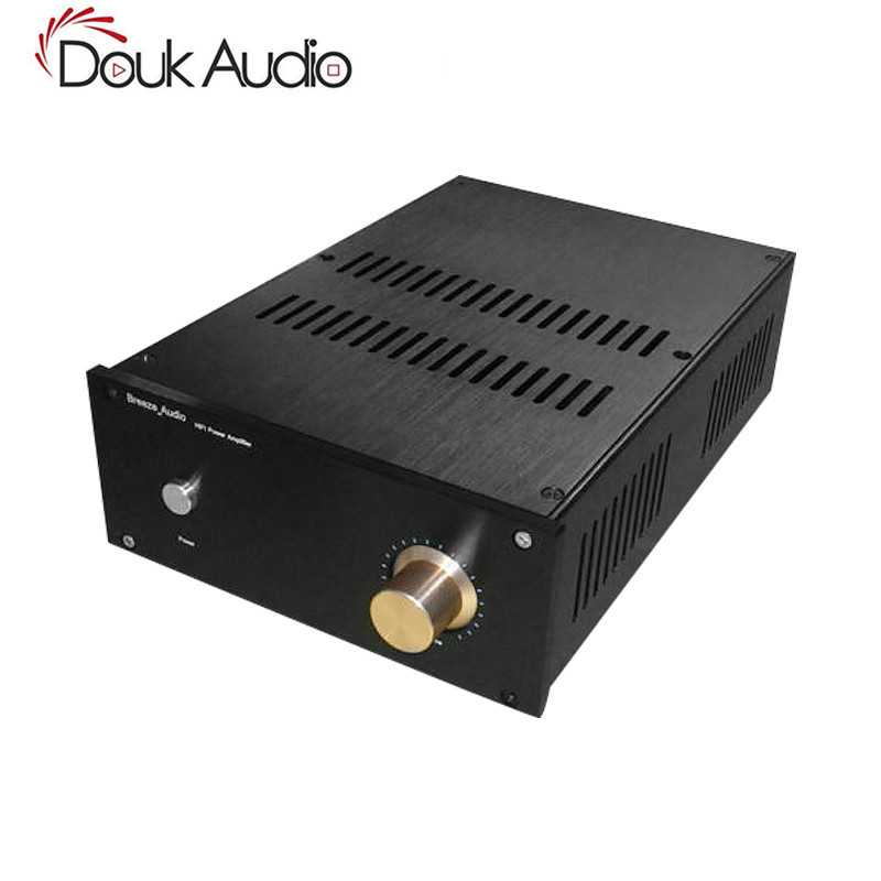 Nobsound Black Aluminum Chassis Desktop Power Amplifier Cabinet DIY House Box with Vents