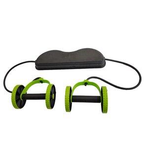 Image 3 - AB 바퀴 롤러 스트레치 탄성 복부 저항 끌어 오기 로프 도구 AB 롤러 복부 근육 트레이너 운동